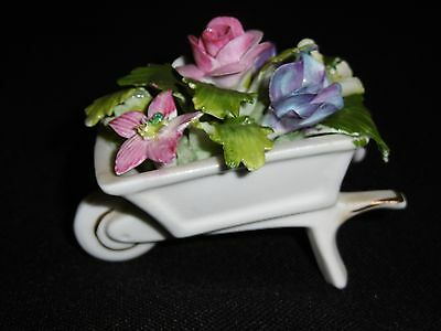 Royal Adderley China Floral Wheelbarrow