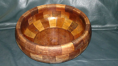 Antique Carved Wooden Serving Bowl Tonbridge Ware Folk Pagan Wood Dish Treen 7