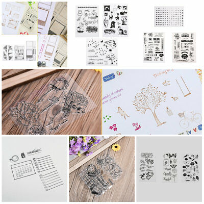 DIY Alphabet Transparent Silicone Clear Rubber Stamp Sheet Cling Scrapbooking