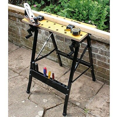 Multi Use Tough and Lightweight Folding Work Bench (Cutting, Drilling, Sanding)