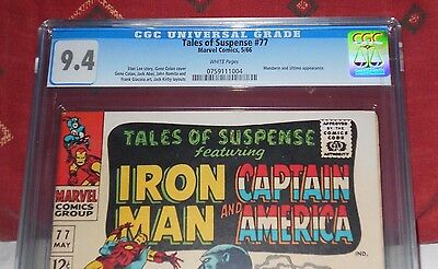 Tales of Suspense 77 CGC 9.4 WHITE Pages First Peggy Carter Perfect Centering