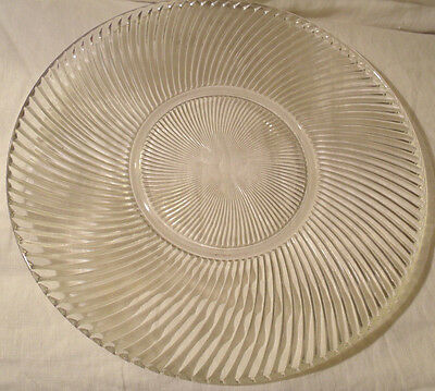 Depression Glass Clear Platter - Diana Pattern