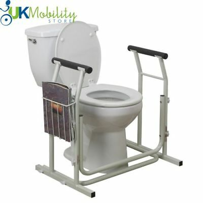 Portable Toilet Safety Surround Support Frame. Grab Handle Disability Aid