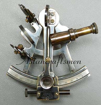 Nautical Brass Sextant Antique Finish Astrolable Sextant 5''
