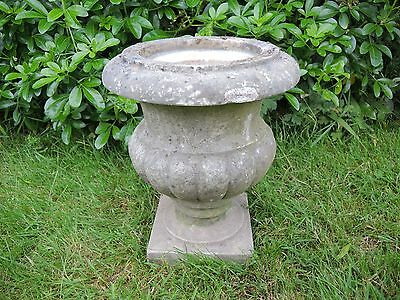 Small Antique Marble Stone  Garden Urn  29 cm high  (613i)