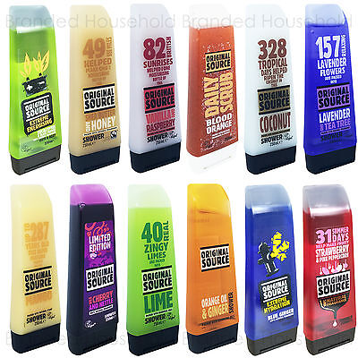 6 X Original Source Shower Gel Bath Body Wash Scrub Vegan 250Ml