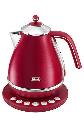 NEW Delonghi Icona Elements Digital Kettle: Flame Red KBOE2011R