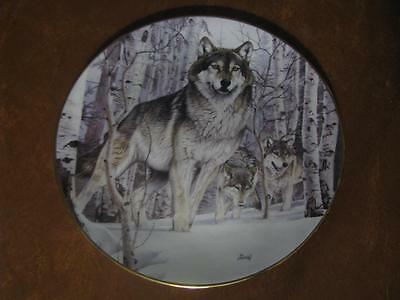 YEAR OF THE WOLF collector plate A SECOND GLANCE Al Agnew WOLVES