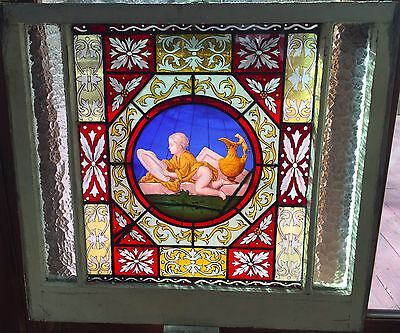 Putti stained glass window