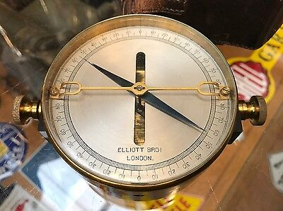 Quality Leather Cased Military Brass Galvanometer By Elliot Bros. Offers?