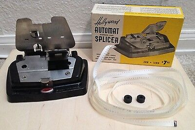 Vintage HOLLYWOOD Automat Stainless Steel FILM SPLICER 8mm 16mm SCHOEN Product