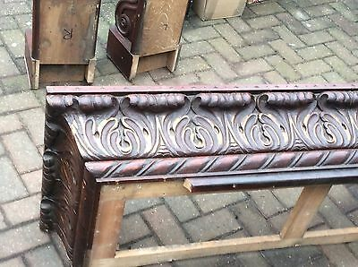 Victorian Gothic Oak Fire Surround & Corbels From The Bulls Head Hanford