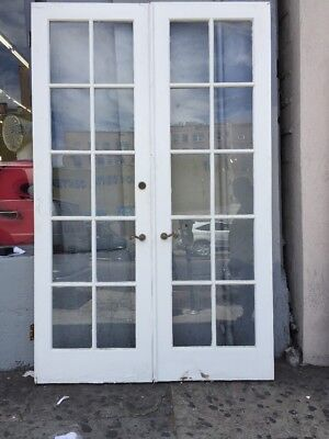 "French Doors 95x29-3/4"" 10 Glass With Hardware"