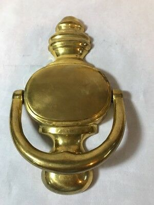 Vintage Solid Brass Door Knocker Traditional Style New Old Stock