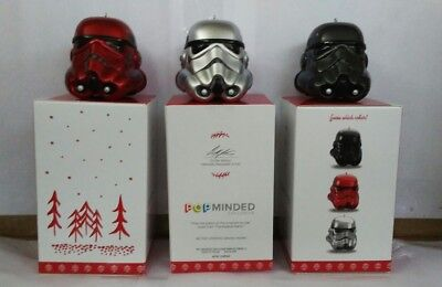 2017 Hallmark Imperial Stormtroopers Star Wars Mystery Ornaments Complete Set
