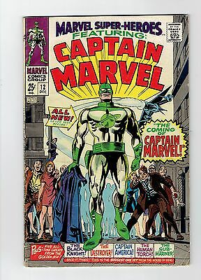 Marvel Super Heroes 12 Fn First Appearance Of Captain Marvel