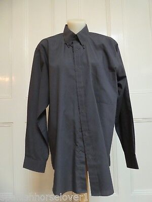 Taylor&Butler-DK Grey-Classic Mens Business Shirt-Buttondown Collar-39cm-Size M