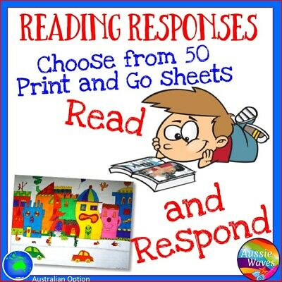 Educational Reading Resource Print and Go Reading Responses for Literacy Groups