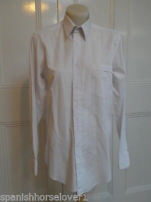 Grandway-White- Classic Mens Business Shirt-Long Sleeved-Size 37cm