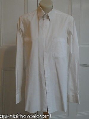 Van Heusen-White- Full Cut Mens Business Shirt-Long Sleeved-Size 37cm