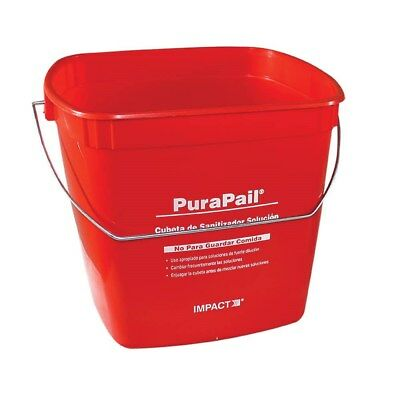 Impress Your Health Inspector -- 6 Quart PuraPail Red Sanitizer Pail
