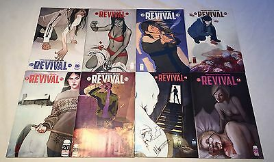 Revival 1 2 3 4 5 6 7 8 - 8 iss lot 1st prints #3 is remarked by Norton all NM