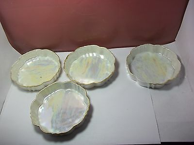 Vintage Qty 4 Dip Dish Pearlized Japan