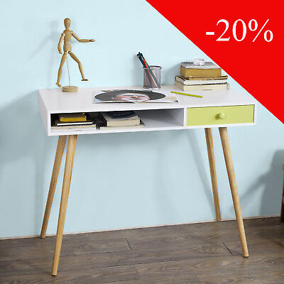 SoBuy® Home Office Table Desk Computer Workstation with Drawer,FWT24-W,UK