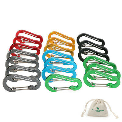 Aluminum Alloy Carabiner  Hanging Buckle Key Chain Clip Hook Camping Buckle