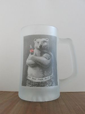Pre-Owned Coca Cola Polar Bear Frosted Mug - 1995