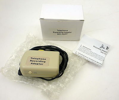 Trillium Telephone Call Recording Adaptor Rec-Adpt 3.5Mm New