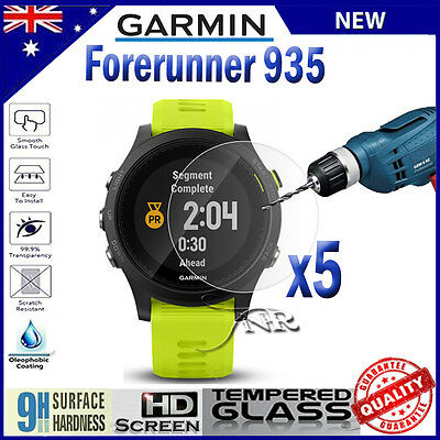 5x Tempered Glass Screen Protector Film Guard For Garmin Forerunner 935
