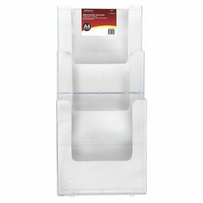 Bulk Buy - 3 x NEW deflect-o Stackable Wall Mount Brochure Holder Portrait
