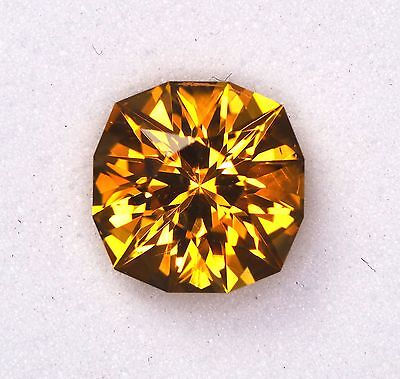 Citrine - Brazil - 2.68 Carat - Cushion Cut - Precision Cut Fire!