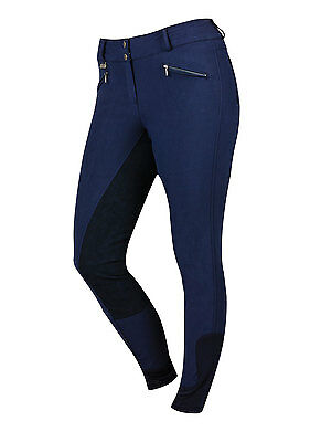 DUBLIN SUPA SHAPE IT PERFORMANCE FULL SEAT BREECHES NAVY in Navy