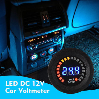 Blue LED Digital Display DC 12V Car Boat Gauge Auto Voltmeter Battery Monitor