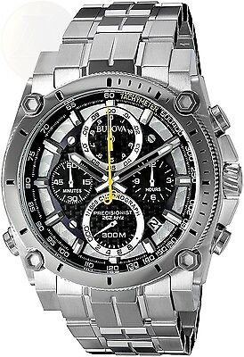 Bulova Mens 96B175 Stainless Steel Precisionist Chronograph Watch New 7 1/2 inch