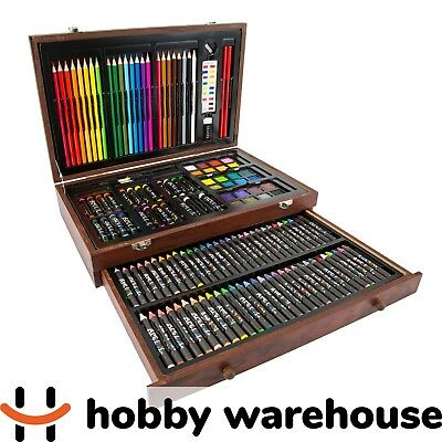 Art Box 138 Piece Mega Artist Creative Drawing Wood Art Box Set