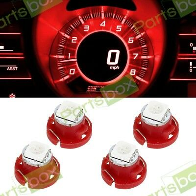 4x Red T5 Neo Wedge 5050-SMD LED Lights for AC Climate Lights Bulbs 12mm