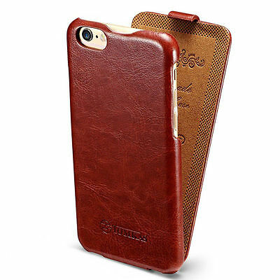 Luxury Leather Case Vertical Flip Protective Cover For iPhone Samsung Galaxy