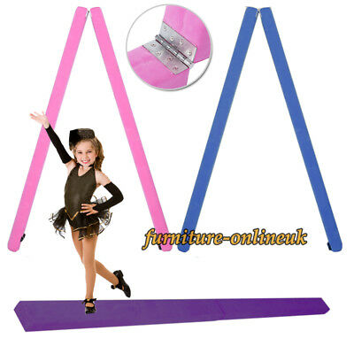 7ft Suede Foldable Balance Beam Gymnastics Kid Training Sport Equipment Fitness