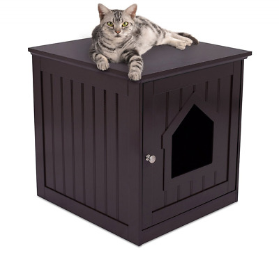 Cat House & Side Table | 49 x 51x 51 CM | Cat Home Nightstand | Wood Cat litter