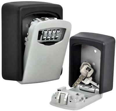 New Weatherproof Outdoor Wall Mount Key Safe Box Lock Holder