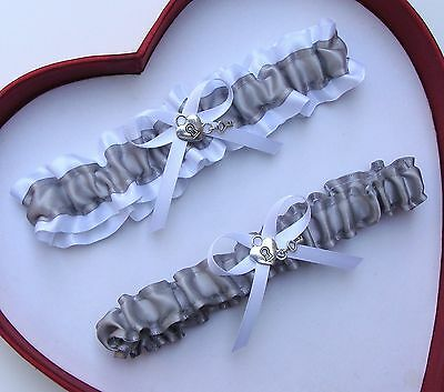 NEW Gorgeous Silver White Wedding Garter Prom Homecoming GetTheGoodStuff A+