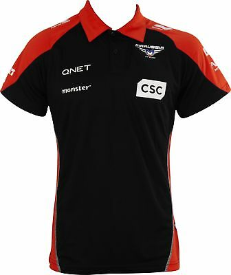 Marussia F1 Team Race Mens Short Sleeve Sponsor Polo Shirt - Black