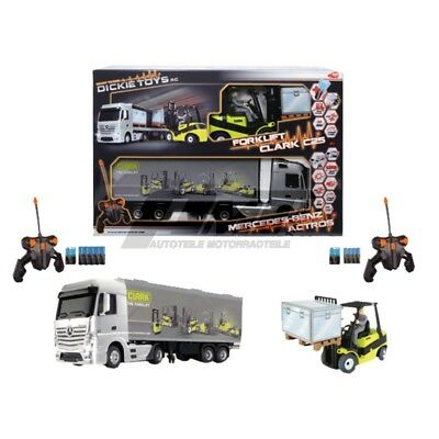 Dickie Toys 201119877 - RC Mercedes-Benz Actros/Forklift Clark C25, funkferngest