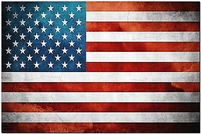 USA America Flag grunge Abstract Canvas Print Poster 8X10""