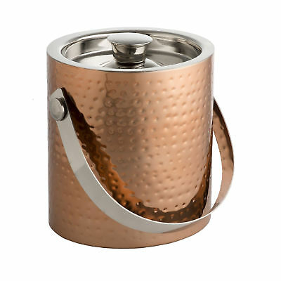 Epicurean Copper Ice Bucket with Tongs - Ice Cube Bucket