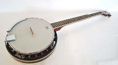 BANJO ELECTRO ACOUSTIC G BLUEGRASS BANJO 5 STRING NEW By CLEARWATER