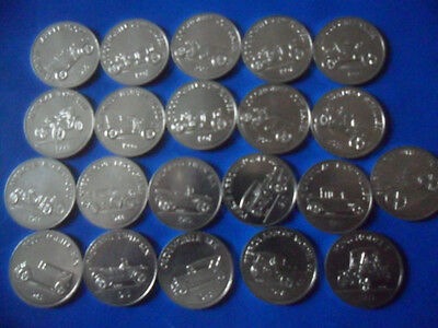Lot of 21  Sunoco Antique Car Coin Series I  Tokens NOT ALL DIFFRENT  12 COINS